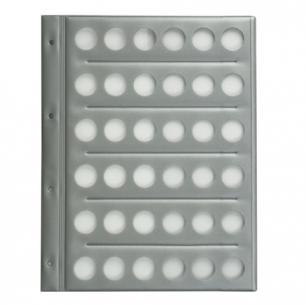Планшет-вкладыш А4 на  36 монет, ПВХ, с перфорацией, с картонным разделител. для записей, ДПС, 2867/36