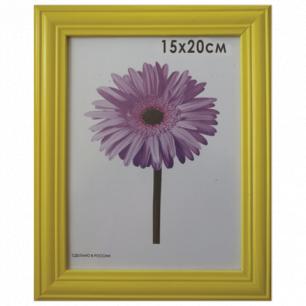 """Рамка премиум 15*20см """"Linda"""", дерево, желтая (для фотографий), 0065-6-0002"""