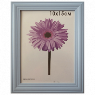 """Рамка премиум 10*15см """"Linda"""", дерево, голубая (для фотографий), 0065-4-0015"""
