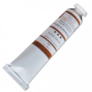 Краска масляная художественная ПОДОЛЬСК, туба 46мл, ван-дик коричневый (450), шк1892