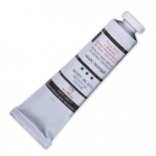 Краска масляная художественная ПОДОЛЬСК, туба 46мл, марс черный (720), шк2493