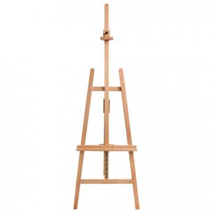 Мольберт напольный BRAUBERG, бук, угол 60°, разм 63х174 (231) х68см, высота холста 126см, 190652