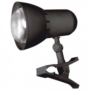 Светильник настольный НАДЕЖДА-1 МИНИ на прищепке, лампа накал. с зерк.отраж.слоем, 40 Вт, черный, Е27