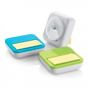 Диспенсер для блоков (стикеров)  POST-IT настольный, компакт. + блок 76х76мм, 50л, ассорти, OL-330-MX