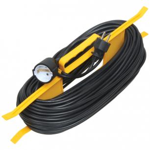 Удлинитель на рамке IEK (ИЕК)  ГОСТ Р51322.1, 1 розетка, 30 метров, 2х0,75мм, 1300Вт, б/заземления.