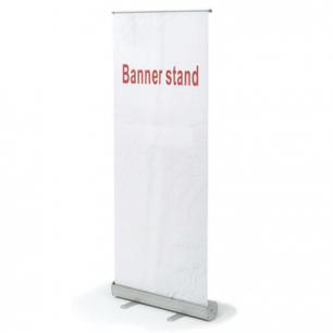 """Стенд мобильный для баннера, """"Роллскрин 2 (80)  """", размер реклам. поля 800*2000мм, алюминий, 290521"""