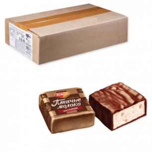 """Конфеты шоколадные РОТ ФРОНТ """"Птичье молоко"""", суфле, сливочно-ванил., вес., 2,3кг, гофрокороб, ш/к79636"""
