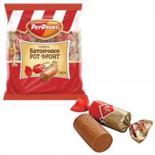 """Конфеты шоколадные РОТ ФРОНТ """"Батончики"""", 250г, пакет, РФ04274"""