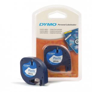 Картридж для принтеров этикеток DYMO LetraTag 12мм*4м, лента пластиковая, белая S0721610