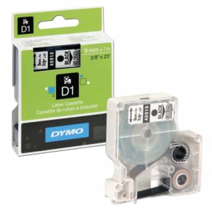 Картридж для принтеров этикеток DYMO D1 9мм*7м, лента пластиковая, чёрн шрифт, прозрачный фон S0720670