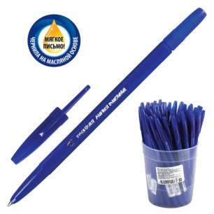 """Ручка шариковая масляная СТАММ """"Тонкая линия письма"""", корпус синий, 0,7 мм, РК20, синяя"""