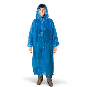 Плащ-дождевик c капюшоном, застёжки, рукава, полиэтилен ПВД 18мкм