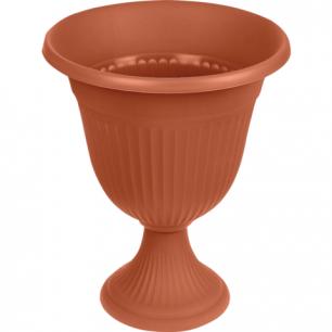"""Кашпо-вазон 10л для цветов IDEA, """"Ливия"""", высокая ножка, (в44*диаметр 35см), цвет коричневый, М 3203"""