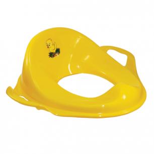 Горшок-накладка детская на унитаз IDEA, пластиковая, с ручками, (в14*ш37*г41см), желтая, М 2593