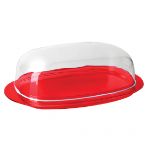 """Масленка IDEA, """"Кристалл"""", (в6*ш10,6*г19 см), цвет красный, М 1126"""