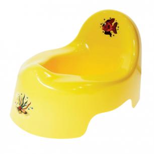 Горшок детский IDEA, пластиковый, со спинкой, (в22*ш25*г34см), желтый, М 2595