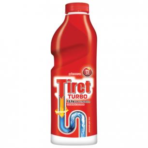 Средство для прочистки канализационных труб TIRET Turbo (Тирет Турбо)  1000 мл, гель, ш/к 00814