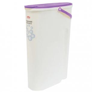 Контейнер 8л для стирального порошка IDEA, белый корпус, крышка с клапаном, (в38*ш12*г28см), М 1241