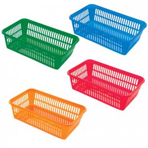 Корзинка для хранения универсальная, пластиковая, (в7,2*ш25*г15см), ассорти, 4333100