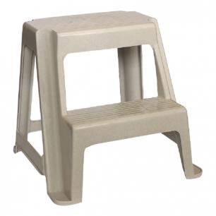 Табурет-стремянка 2 ступени IDEA, пластиковый, (в48*ш47*г41 см), цвет серый, М 2296