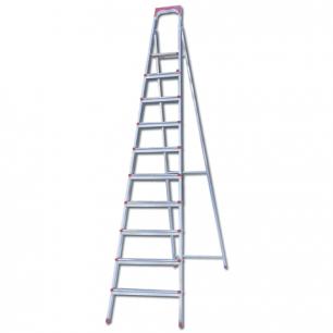 """Лестница-стремянка """"UFUK """" 226см, 10 ступ, стальная, облегчен, вес 13кг, ТУ 24/KRM610"""