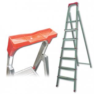 """Лестница-стремянка """"UFUK"""" 155см, 7 ступ, стальная, облегчен, вес 10кг, ТУ 21/KRM507"""