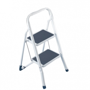 Лестница-стремянка ARNO 46 см, 2 прорезиненные ступени 20*30см, стальная, нагрузка до 150кг