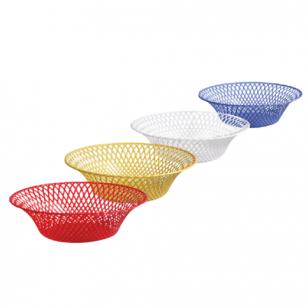 Корзинка круглая IDEA, диаметр 25см., для фруктов и сухарей, цвет ассорти, М 1213