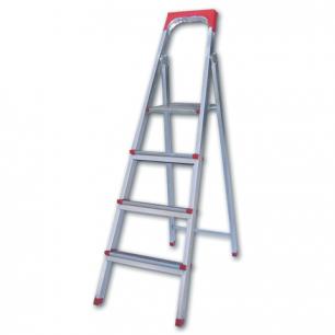 """Лестница-стремянка """"UFUK """" 86см, 4 ступ, стальная, облегчен, вес 6,3кг, ТУ 18/KRM404"""