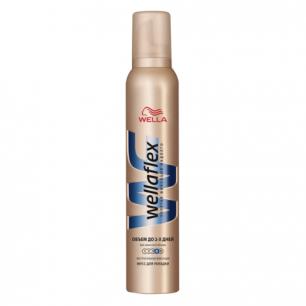 """Мусс для волос WELLAFLEX (Веллафлекс)  200мл, """"Объем до 2х дней"""", экстра-сильная фиксация, ш/к 74138"""
