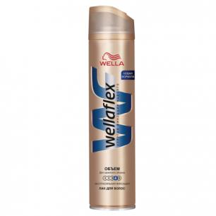 """Лак для волос WELLAFLEX (Веллафлекс)  250мл, """"Объем до 2х дней"""", экстра-сильная фиксация, ш/к 74336"""
