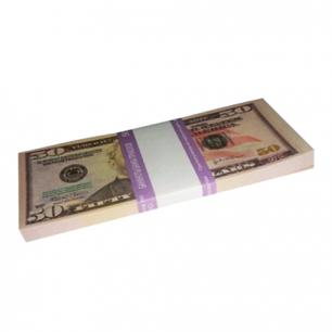 """Деньги шуточные """"50 долларов"""", упаковка с ероподвесом, ш/к 72397"""