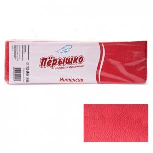 """Салфетки """"Перышко"""" Big Pack, 24х24, 400шт., красные интенсив, 125256, ш/к 82271"""