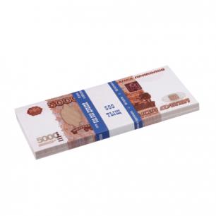 """Деньги шуточные """"5000 рублей"""", упаковка с ероподвесом, ш/к 72502"""