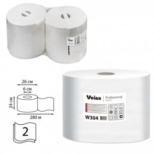 Бумага протирочная VEIRO (P1/P2), КОМ. 2шт, Premium, 800л в рулоне, 24х35, 2-сл (дисп601741,-678)  W304
