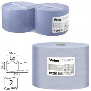 Бумага протирочная VEIRO (P1/P2), КОМ. 2шт, Comfort, 1000л/рулон, 24х35, 2-сл (дисп.601741,-678)  W201