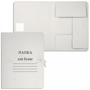 Папка д/бумаг с завязками картонная, гарант. пл.280 г/м2, до 200л.