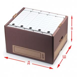 """Короб архивный """"Универсальный"""" (в26,5*ш34*г44, см), надстраиваемый, без крышки, картон, 261"""