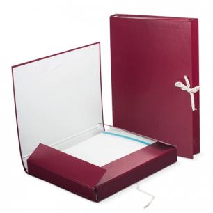 Папка д/бумаг архивная  30 мм, бумвинил, 2 х/б завязки, до 250л., 120253