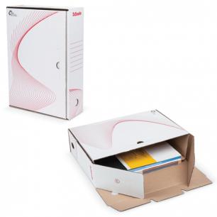 "Накопитель документов ESSELTE Лоток-коробка ""Boxy"", 100мм, белый, до 900л., 128102"