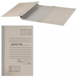 Папка архивная для переплета 100 мм, без клапанов, переплетный картон, корешок - бумвинил, ш/к 71759