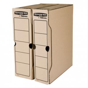 """Накопитель документов, Лоток-коробка FELLOWES Bankers Box """"Basic"""", 100 мм, бурый, до 850л, FS-00102"""