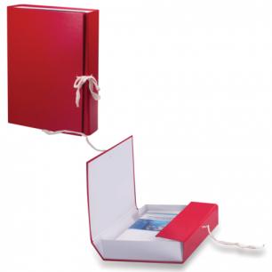 Короб архивный, бумвинил,  3,5 см, 2 х/б завязки, цвет ассорти, до 300л.