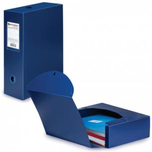 Короб архивный BRAUBERG Energy, пластик, 10 см (на 900л.), разборный, синий, 0,9мм, 235375