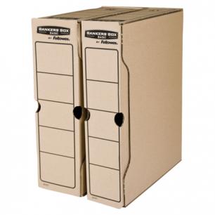 """Накопитель документов, Лоток-коробка FELLOWES Bankers Box """"Basic"""", 80 мм, бурый, до 650л, FS-00103"""