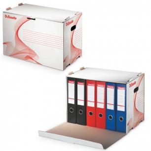 Накопитель документов ESSELTE, Архивный короб, 52,5*34*30,6см, для папок-регис., откр.сбоку, белый, 10964