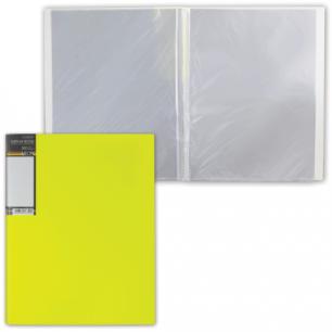 "Папка 20 вклад. ""Хатбер"" HD, Неоново-желтая, 0,9мм, 20AV4_02036 (V167502)"