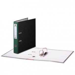 Папка-регистратор BRAUBERG фактура стандарт, с мраморным покрытием, 50 мм, зеленый корешок, 220985