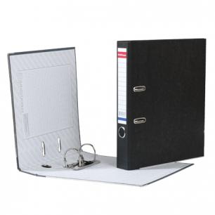 """Папка-регистратор ERICH KRAUSE, с мраморным покрытием, """"содержание"""", 50мм, черный корешок, 4671"""