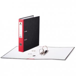 Папка-регистратор BRAUBERG фактура стандарт, с мраморным покрытием, 50 мм, красный корешок, 220983